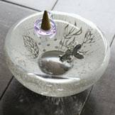 Hand-made Glass Incense Stand