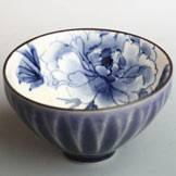 Kyoyaki Botan(Peony) Teacup, Japanese Sake Cup, Guinomi, Made in Japan