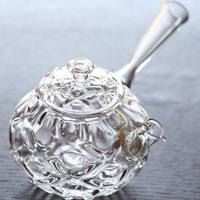 """Diamond"" Japanese Sytle Teapot, Kyusu 160cc Made of Heat-resisitance Glass, Ryuta Mizukami"