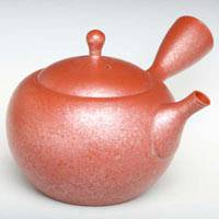 Tokonameyaki Japanese Tea Kyusu, Shudei Pearl Teapot 370ml, Pure Hand-made by Shoryu, Free Shipping