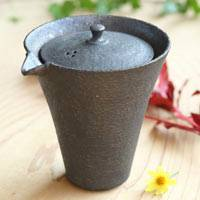 Gold Crack Black Tea Server, Pure Hand-made by Shinobu Hashimoto, Ceramic Gaiwan 200ml, Houhin