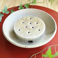 Pottery Tea Tray, Hand-made by Koichi Ohara, Chinese Style Tea Tray