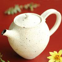Crack Pattern White Teapot 180ml, Made by Shinobu Hashimoto, Chinese Tea Teapot, Sencha Kyusu