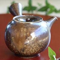 Pure Hand-made Wood-fired Kyusu 230cc by Yohei Konishi, Gyokurocha Teaware, Sencha Teapot