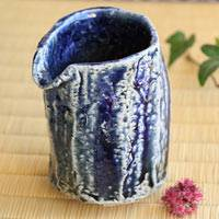 Salt Glazing Pottery Yuzamashi 280ml by Takeshi Shimizu, Japanese Sake Server, Tea Server