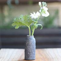 Pottery Small Flower Vase, Bud Vase, Hand-Made by Koichi Ohara in Japan