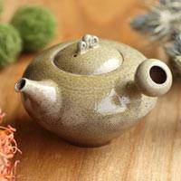 Wood-fired Kyusu 250ml, Pure Hand-Made by Yohei Konishi, High Class Sencha Kyusu