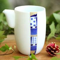 Mosaic Water Cooler 330ml, Pure Hand-made by Mayuki Kanto, Yuzamashi, Sake Pitcher