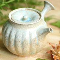 Pure Hand-made Wood-fired Kyusu 230cc by Yohei Konishi, Gyokurocha Teaware, Youhen Kyusu