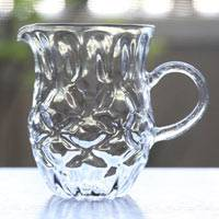 "Yuzamashi ""Diamond"" 300ml, Heat-resisitance Glass, by Ryuta Mizukami, Sauce Server"