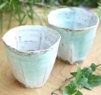 Madara Hakeme Teacup (Two for One Set) Made by Sho Kumamoto, Pure Hand-Made in Japan