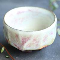 Pottery Red Cup, Ceramic Small Cup 80ml, Japanese Sake Cup, Gyokuro Tea Cup, Free Shipping
