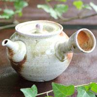 Igayaki Wood-fired Pottery Kyusu 340ml, Green Tea Teapot, Made by Manabu Minamide