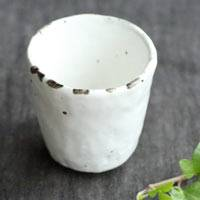 ·Pottery white teacup 50ml, pure hand-made by Emi Masuda. shipping from Japan