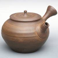 Toju, Tokonameyaki pottery teapot, sencha green tea teapot 220ml, direct shipping from Japan