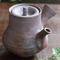 Igayaki wood-fired pottery teapot 280ml, Kenji Kojima, Japanese sench kyusu, green tea teapot