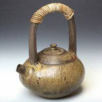 Can Directly Boil Water Pottery Kettle 800ml, Made by Yusuke Wakasa, Large Capacity Kyusu