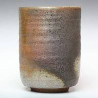 Hiroaki Omori, Bizenyaki Wood Fired Pottery Yunomi 290ml, Green Tea Teacup