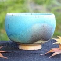 So Yamada, Blue Pottery Tea Cup Large Size 250cc, Tea Cup, Japanese/Chinese Tea Cup