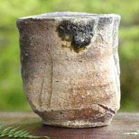 Igayaki potter Takashi Tanimoto, authentic wood-fired pottery teacup 220ml, Japanese yunomi