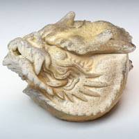 Dragon Head Houhin, Bizenyaki Hand-made in Japan by Teruhiko Omori