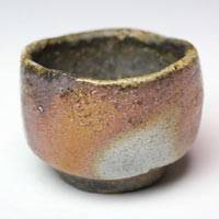 Wood-fired Japanese Bizenyaki Pottery Cup 50ml, Made by Fumiharu Kino, Sake Cup