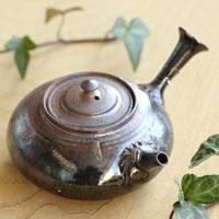 Wood Fired Kyusu 170cc, Japanese Gyokurocha Teapot, Made by So Yamada, Tokonameyaki