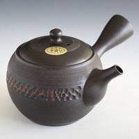 Japanese Tokonameyaki Sencha Kyusu 330cc, Hand-made by Deceased Teapot Artizan Seiho Hida