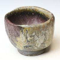 Wood-fired Japanese Bizenyaki Pottery Cup 70ml, Made by Fumiharu Kino, Small Tea Cup, Sake Cup