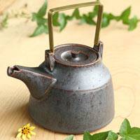 Can Directly Boil Water Pottery Teapot 700ml, Japanese Kyusu, Hand-made by Shinobu Hashimoto, Dobin