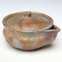 Bizenyaki Wood-fired Extra Small Houhin 60ml, Made by Teruhiko Omori,Gyokurocha Teaware
