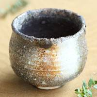 Japanese Igayaki Wood-fired Youhen Pottery Cup 140ml, Hand-made by Manabu Minamide