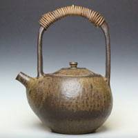 Can Directly Boil Water Pottery Kettle 800ml, Made by Yusuke Wakasa, Dobin