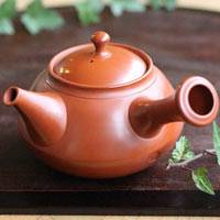 Tokonameyaki Red Clay Teapot 300cc, Made by Setsudo, Sencha Kyusu, Pottery Green Tea Server