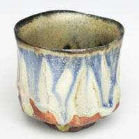 Tanbayaki Pottery Blue Cup 100ml, Pure Hand-made by Nobuhito Nakaoka, Sake Cup, Small Tea Cup