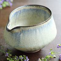 Japanese Tanbayaki Pottery Water Cooler, Yuzamashi 260ml, Made by Nobuhito Nakaoka, Tea Server