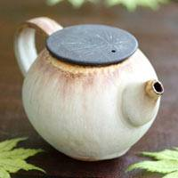 Partially Gold Glazed Brown Kyusu 180ml Chinese Tea Teapot, Japanese Gyokuro Pot, Nobuhito Nakaoka