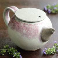 Partially Gold and Silver Glazed Pottery Teapot 190ml, Pure Hand-made by Nobuhito Nakaoka