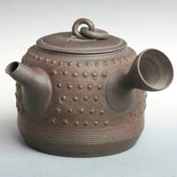 Tokonameyaki Sencha Kyusu 250ml, Hanging Bell Shape Teapot, Pure Hand-made by Toju