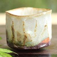 Japanese Pottery Cup 80ml, Pure Hand-made by Nobuhito Nakaoka, Tanbayaki, Small Cup