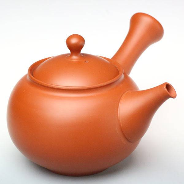 Authentic Tokonameyaki Red Clay Teapot 320cc, Made by Setsudo, Sencha Kyusu, Shudei Kyusu