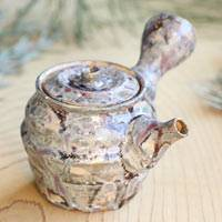 Hand-made by Pottery Aritst Atsushi Kobayashi, Japanese Style Teapot,Shipping from Japan