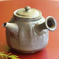 Wood-fired Teapot, Gyokuro/Sencha Kyusu 180ml, Hand-made by Yohei Konishi, Japanese Tokonameyaki