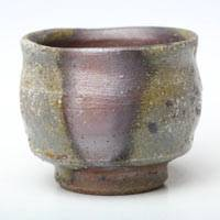Wood-fired Small Cup 70ml, Japanese Bizenyaki, Hand-made by Fumiharu Kino