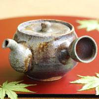 Igayaki Wood-fired Pottery Youhen Kyusu 300ml, Green Tea Teapot, Made by Manabu Minamide