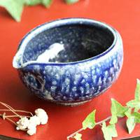 Wood-fired Salt Glazing Water Cooler 270ml, Tanbayaki Yuzamashi, Hand-made by Takeshi Shimizu
