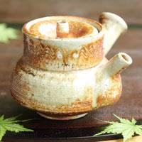 Igayaki Wood-fired One-of-a-kind Pottery Teapot 270ml, Pure Hand-made by Kenji Kojima
