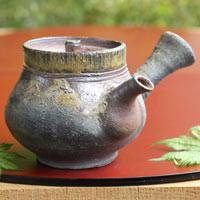 Wood-fired Igayaki Teapot 340ml, Green Tea Teapot, Made by Kenji Kojima