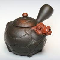 Sheep -shape Japanese Tokonameyaki Teapot, Hand-made by Motozo, 290cc, Sencha Kyusu