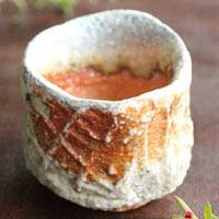Shigarakiyaki Cup 80ml, Wood-fired Youhen Pottery Cup, Pure Hand-made by Kengo Saeki, Guinomi